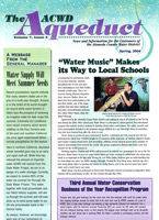 Water Music makes its way to local schools. Article in The Aqueduct, March 1, 2004