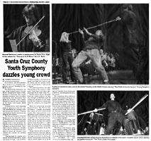 Santa Cruz County Youth Symphony dazzles young crowd. Article in Pajaronian, March 1, 2006