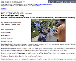 Santa Rosa Press Demomcart - Embracing Earth Day: Sonoma County celebrates the planet with entertainment, education and cleanup